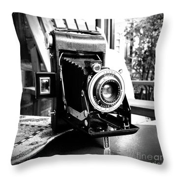 Throw Pillow featuring the photograph Retro Camera by Daniel Dempster