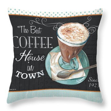Retro Coffee 2 Throw Pillow
