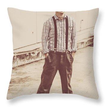 Retro Fashion Revival Throw Pillow