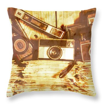 Retro Film Cameras Throw Pillow