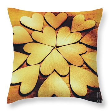 Retro Heart Connection Throw Pillow