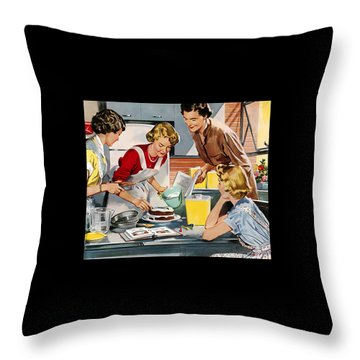 Retro Home Throw Pillow
