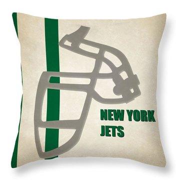 Retro Jets Art Throw Pillow