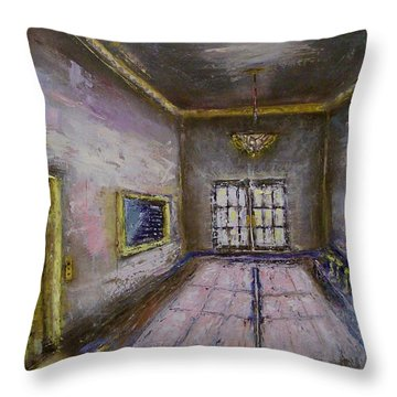 Retro Lobby Throw Pillow