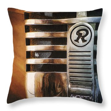 Retro Microphone Throw Pillow