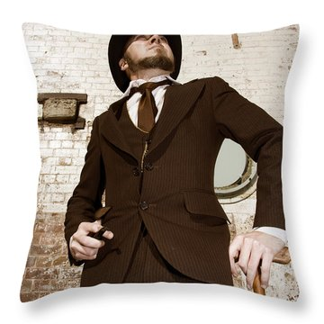 Throw Pillow featuring the photograph Retro Nobel Man by Jorgo Photography - Wall Art Gallery