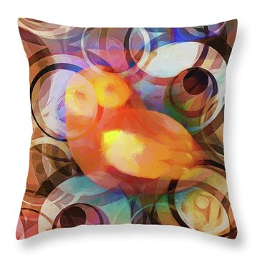 Retro Owl Throw Pillow