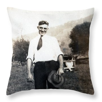 Throw Pillow featuring the photograph Retro Photo 01 by Rick Baldwin