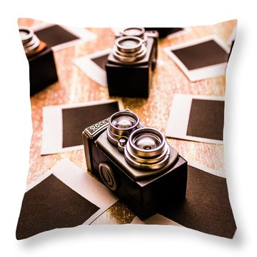 Retro Photographic Scene Throw Pillow