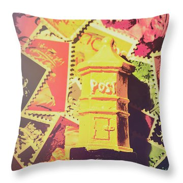 Mail Boxes Throw Pillows