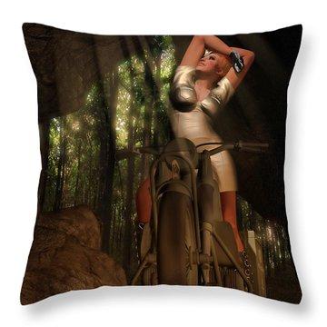 Retro Ride Throw Pillow