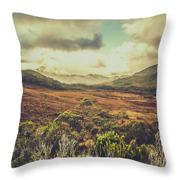Retro Scenic Wilderness Throw Pillow