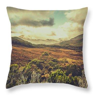 Retro Scenic Wilderness Throw Pillow
