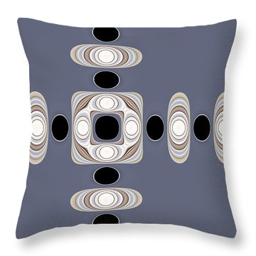 Throw Pillow featuring the digital art Retro Shapes 1 by Fran Riley