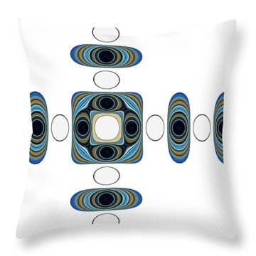 Throw Pillow featuring the digital art Retro Shapes 2 by Fran Riley