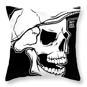 Retro Skull Throw Pillow