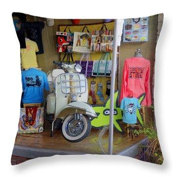 Retro Storefront Throw Pillow