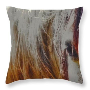 Retro Sunlight And Grey Throw Pillow