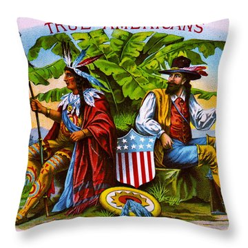 Throw Pillow featuring the photograph Retro Tobacco 1885 by Padre Art