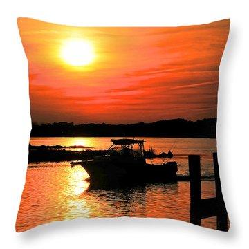 Return At Sunset Throw Pillow