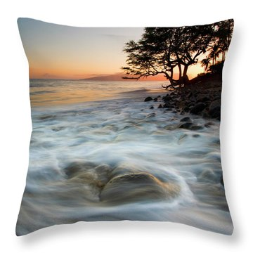 Return To The Sea Throw Pillow by Mike  Dawson