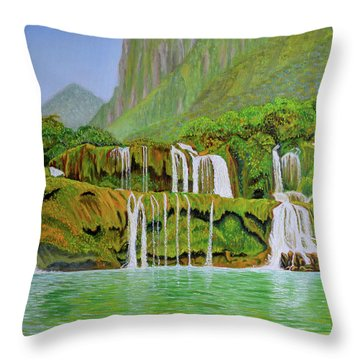 Returned To Paradise Throw Pillow