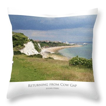 Throw Pillow featuring the digital art Returning From Cow Gap by Julian Perry