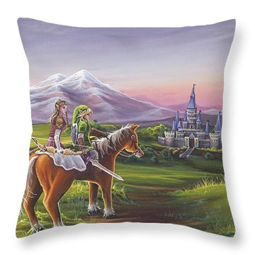 Returning Home Throw Pillow by Joe Mandrick