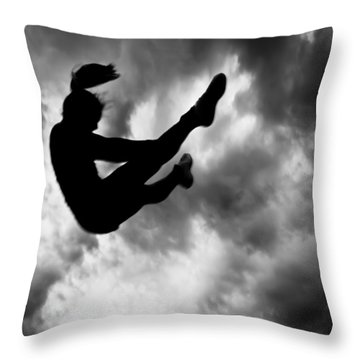 Throw Pillow featuring the photograph Returning To Earth by Bob Orsillo