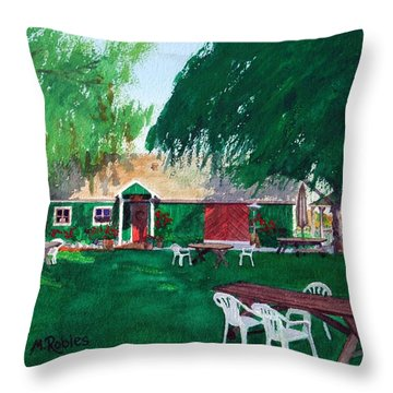 Retzlaff Winery Throw Pillow