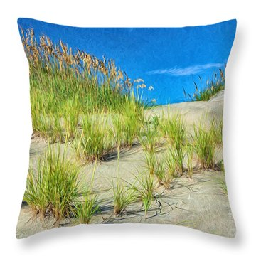 Throw Pillow featuring the painting Reunion by Dan Carmichael