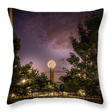 Reunion Tower In Dallas, Texas Throw Pillow