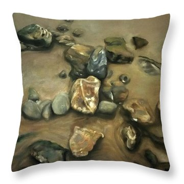 Revealed At Low Tide Throw Pillow
