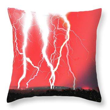 Lightning Apocalypse Throw Pillow