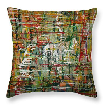 Throw Pillow featuring the painting Revelation by Jacqueline Athmann
