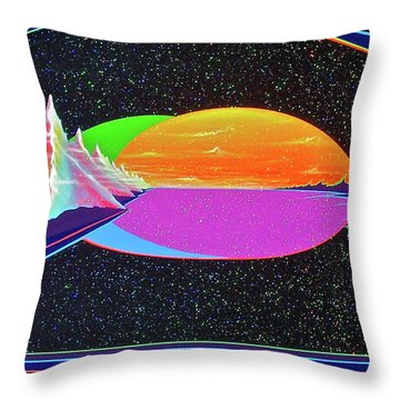Throw Pillow featuring the painting Revelations New Earth by Alan Johnson