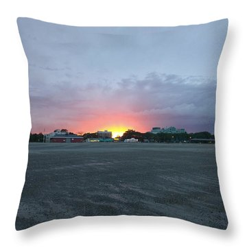Revere Beach Sunset Throw Pillow