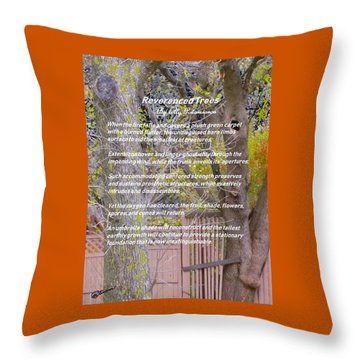 Reverence Of Trees Throw Pillow
