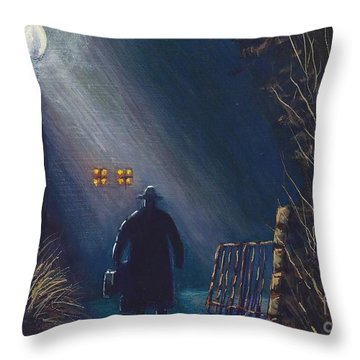 Reverend Hadley Jorgensen Throw Pillow