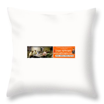Revista Ajiterapia Throw Pillow