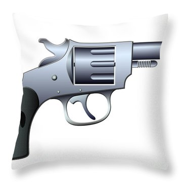 Revolver Throw Pillow