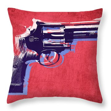 Pistols Throw Pillows