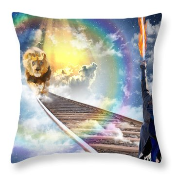 Reward Throw Pillow by Dolores Develde
