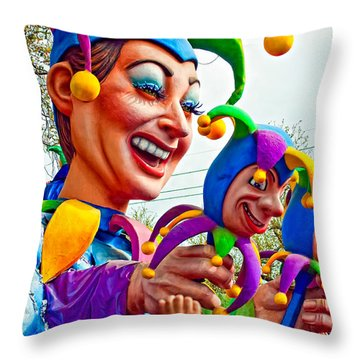 Rex Mardi Gras Parade Xi Throw Pillow by Steve Harrington
