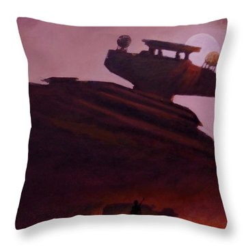 Rey Looks On Throw Pillow