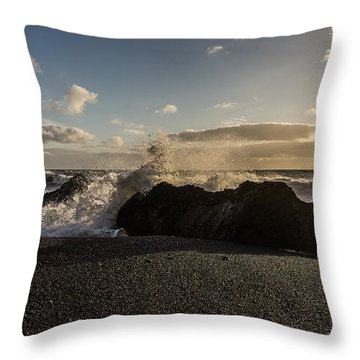 Throw Pillow featuring the photograph Reynisdrangar by James Billings