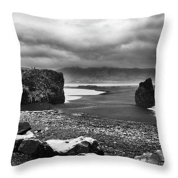 Reynisfjara Throw Pillow by Wade Courtney