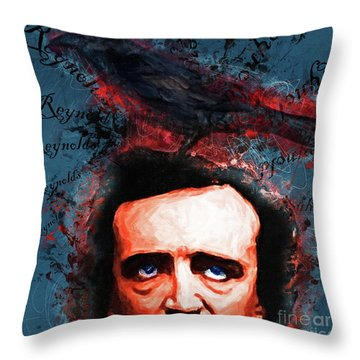 Throw Pillow featuring the photograph Reynolds I Became Insane With Long Intervals Of Horrible Sanity Edgar Allan Poe 20161102 Sq by Wingsdomain Art and Photography