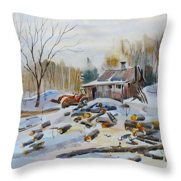 Reynold's Sugar Shack Throw Pillow by David Gilmore