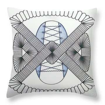 Throw Pillow featuring the drawing Rfb1001 by Robert F Battles